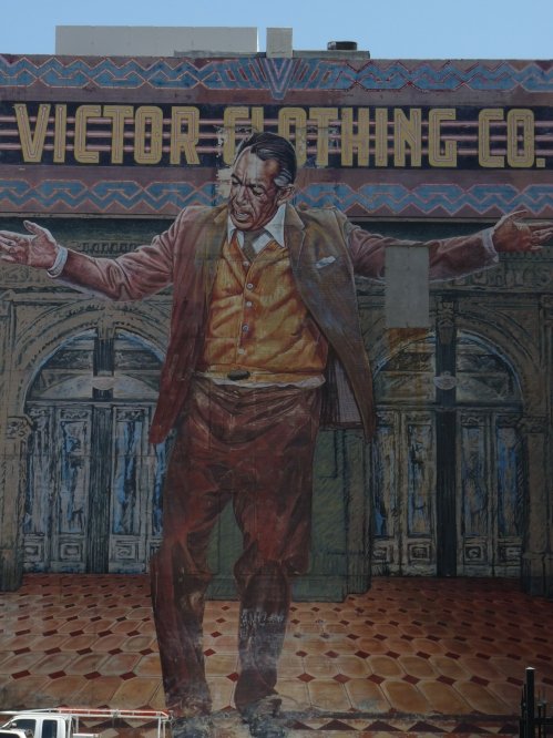 Anthony Quinn as Zorba The Greek on wall mural