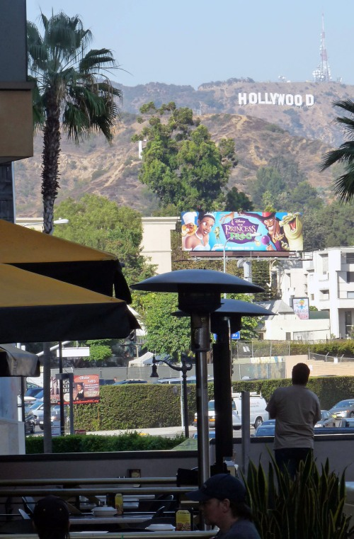 Hollywood Blvd  - looking at Hollywood sign from Hollywood & Highland Center