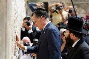 Mitt Romney at the Western (Wailing) Wall in Jerusalem