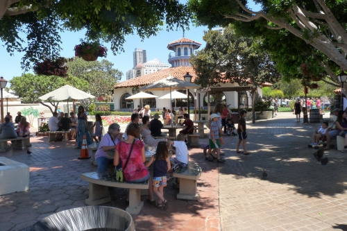 Seaport Village - near the merry-go round