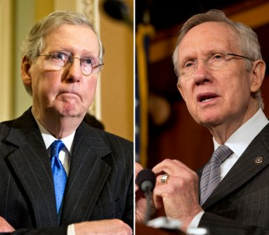 McConnell, Reid point to fiscal stalemate