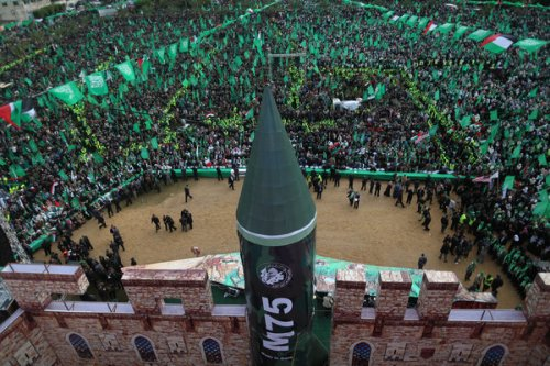 Hamas rocket in gaza