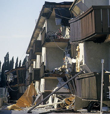 Northridge Earthquake Apartment Building