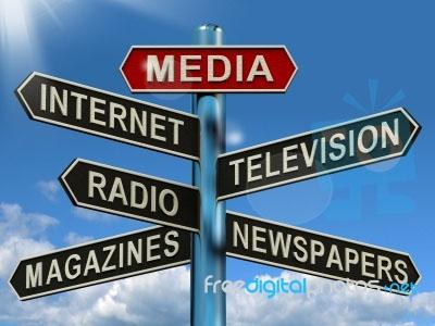 News Media Sign Post