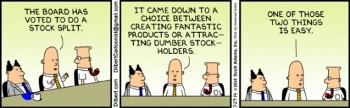 Dilbert 7-29-14  Shot at Apple