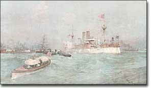 U.S.S. Maine in Havana Harbor Jan. 1898 - US Naval Institute