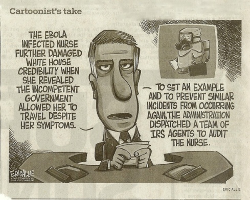 Ebola - Cartoonist's Take