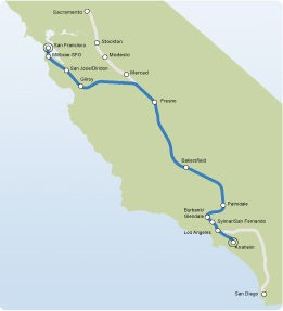 CA Bullet Train Map