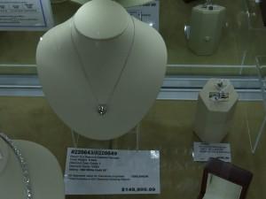 $150K Round Diamond Solitare Pendant