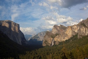View of Yosemite Valley at tunnel entrance Highway 41