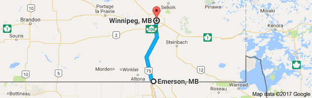 110 Km Or 68 35 Miles From Emerson U S Canadian Border To Winnipeg Winnipeg Is A Pretty City In The Summer